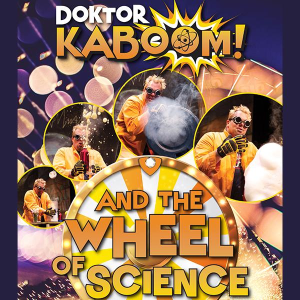 Doktor Kaboom and the Wheel of Science logo